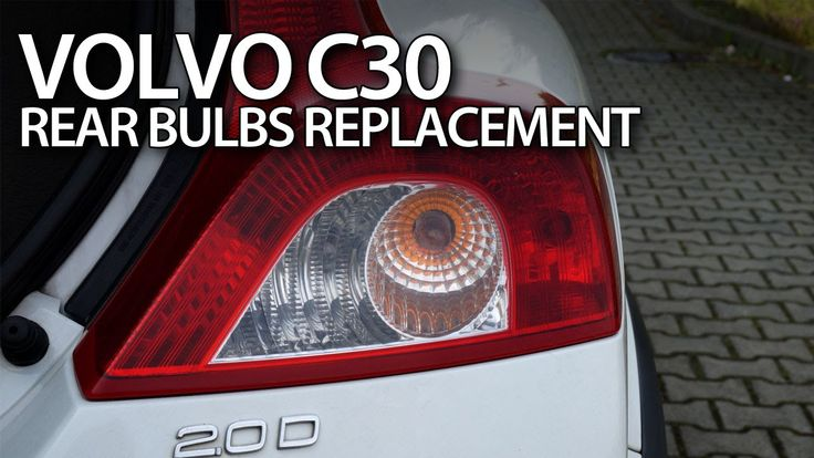 How to change rear #bulbs in #Volvo #C30 do it yourself #tutorial #cars