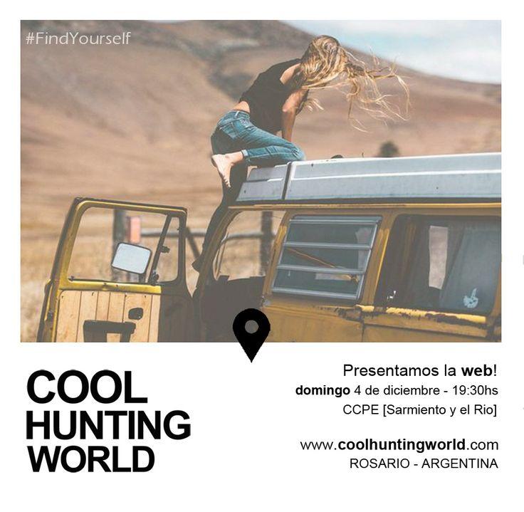 Gráfica invitación presentación oficial de la web #CoolhuntingWorld www.coolhuntingworld.com