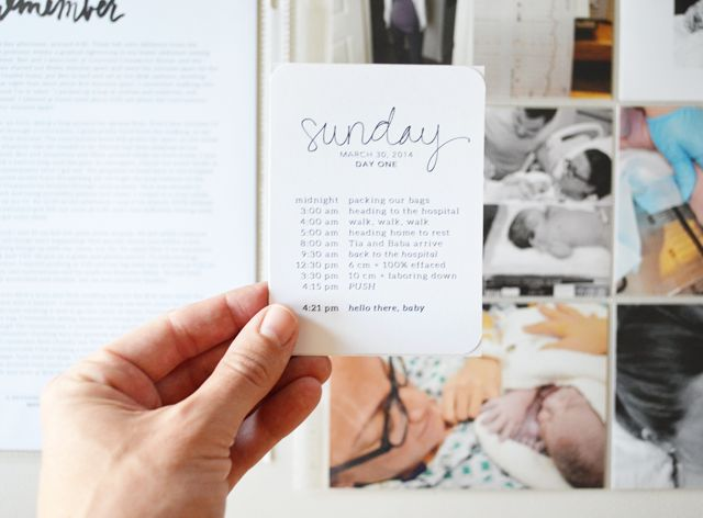 greenfingerprint | journaling for a project life baby album