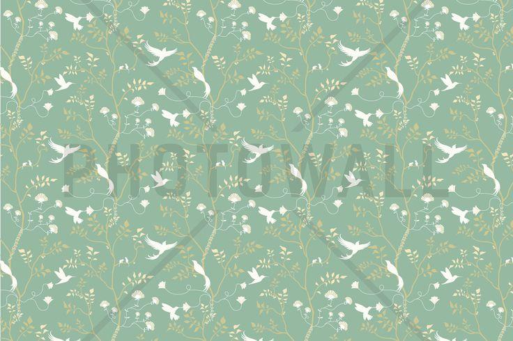 Birdelicious turquoise fototapeten tapeten for Tapeten suchen