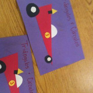 Spanish shape activity/art project for preschoolers