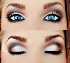 Image result for dramatic eye makeup for blue eyes