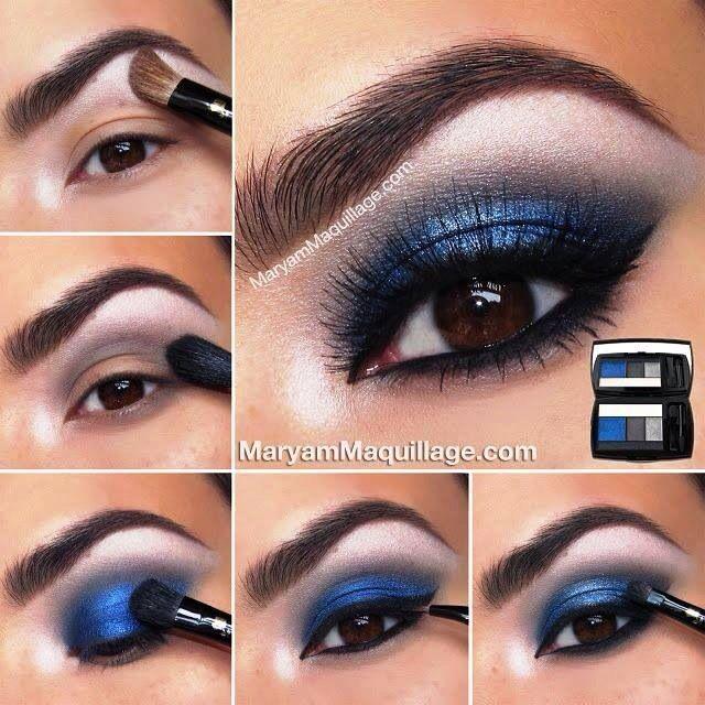 Maquillage pour les yeux marrons