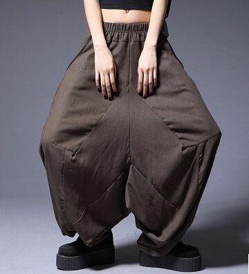 Купить Народная стиль лето женская дресс код чистого хлопка белье широкую ногу брюки брюки мешковатые хип хоп висячие фонари харен брюки D408и другие товары категории Брюки и каприв магазине Lin Meng Fashion наAliExpress. одежда модели и одежда китая