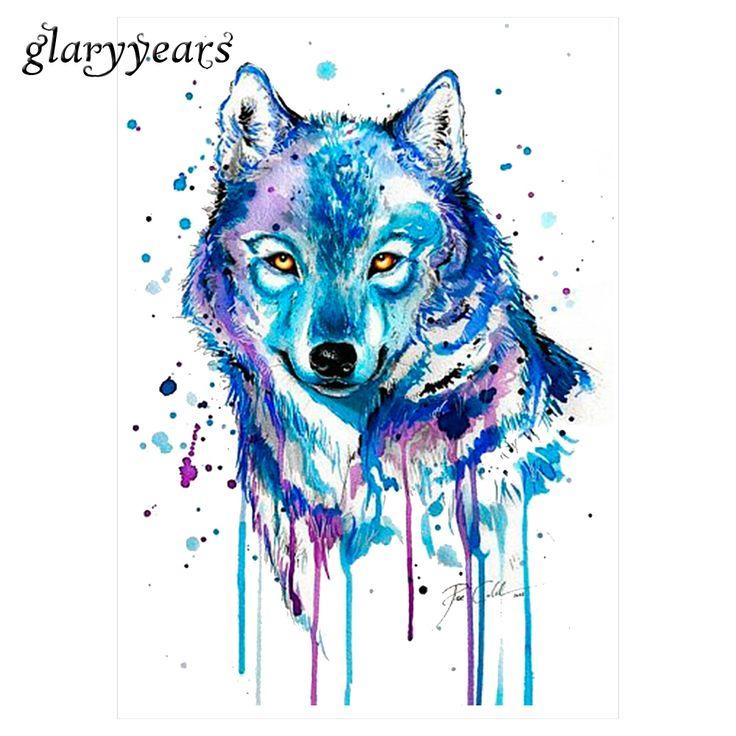 1 Foglio Acquerello Tatuaggio Impermeabile KM-105 Blu Colori Disegno Lupo Decalcomania di Bellezza Body Art Temporary Estate Stile Autoadesivo Del Tatuaggio
