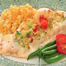 Rock Shrimp Stuffed Florida Grouper
