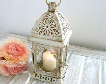 Vintage linterna marroquí Shabby chic linterna rústica iluminación Vintage Inicio decoración boda Centro de mesa apenado linterna partido decoración de la boda