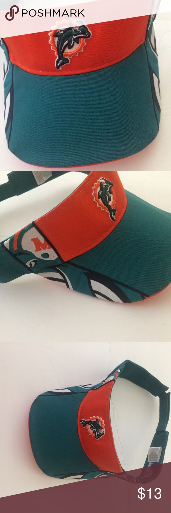 Miami Dolphins NFL Football Visor Reebox Gently used. Excellent condition.  One size fits all Reebok Accessories Hats
