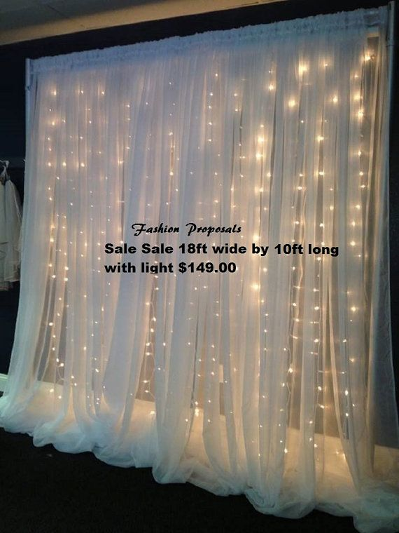 Led Backdrop Lights. Led Backdrops Drapes With Voile Organza 18 Ft Wide By 10 Ft Long Complete Set