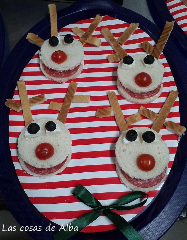 El otro día hicimos unas recetas navideñas para niños en forma de reno, unos sandwiches de reno muy faciles y que les encantarán.