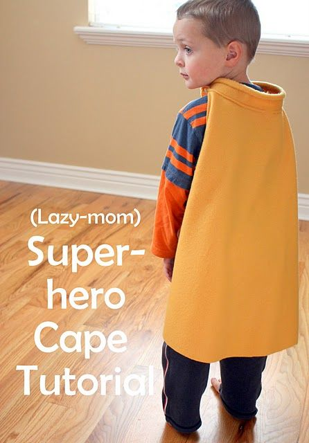 """Brady has been asking me for a """"batman cape"""" ever since he found the extra black fabric from my christmas stocking. Guess I know what I'll be doing as soon as Christmas is behind us...DIY Super Hero Cape"""