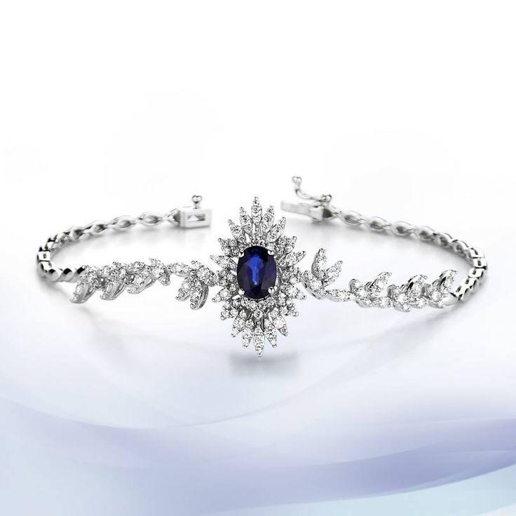 The enchanting harmony of sapphire and diamond - Altinbas