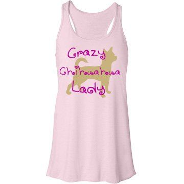 Gold Chihuahua  | Are you a crazy chihuahua lady? Then you will love this cute fit and flare tank top.
