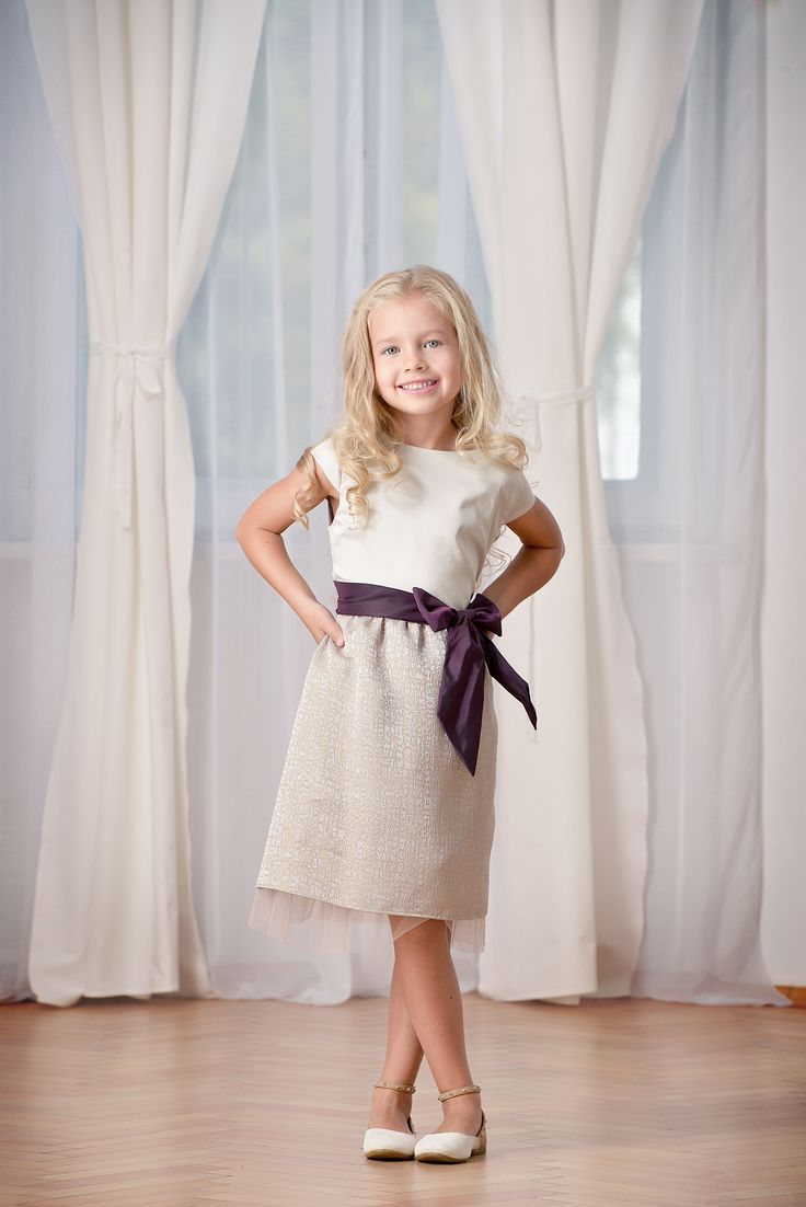 Designers for kids jacquard dress designed by Rhea Costa, children fashion style for kids parties