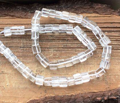 Для украшений ручной работы. Ярмарка Мастеров - ручная работа. Купить Хрусталь горный 6-7 мм кубик гладкий бусины камни для украшений. Handmade.