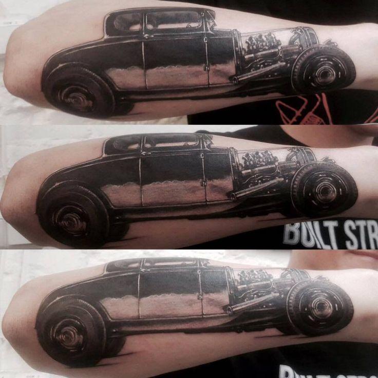 car tattoo, 77ink