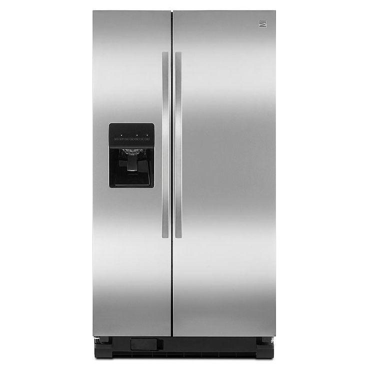 Kenmore 25 cu ft sidebyside refrigerator stainless