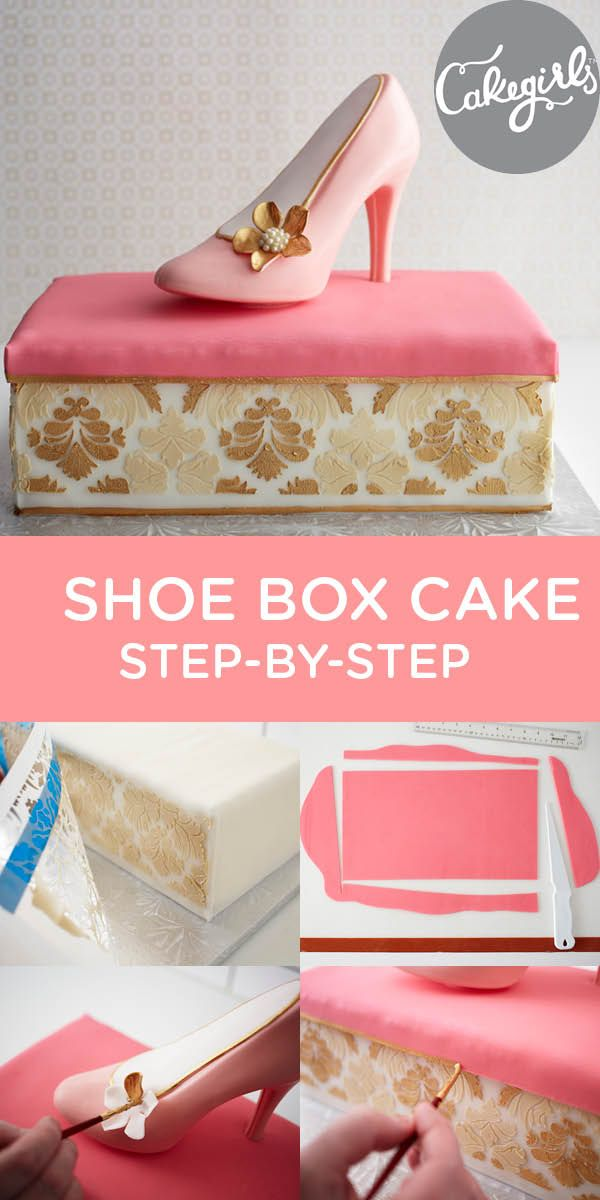 Shoe on a Shoe Box Cake| See The How-To | thecakegirls.com