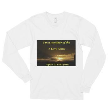 Long sleeve t-shirt (unisex): #Love Army