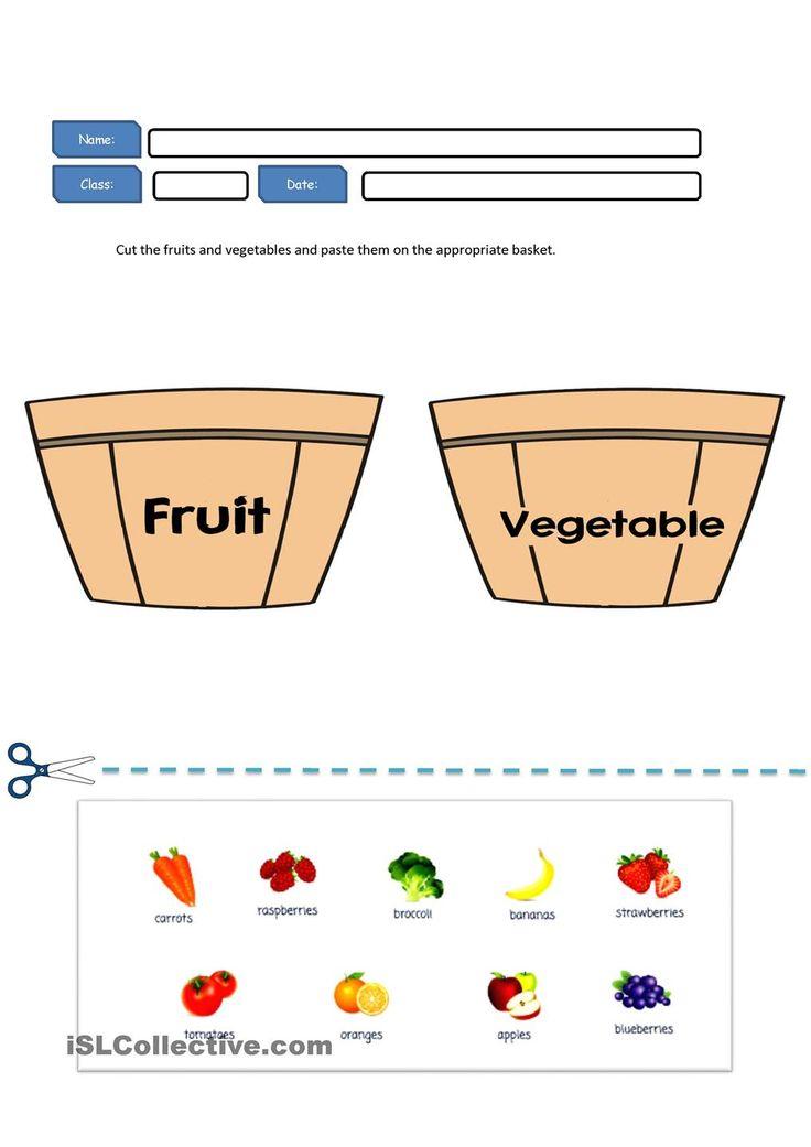 fruit and vegetables artful teaching pinterest worksheets. Black Bedroom Furniture Sets. Home Design Ideas