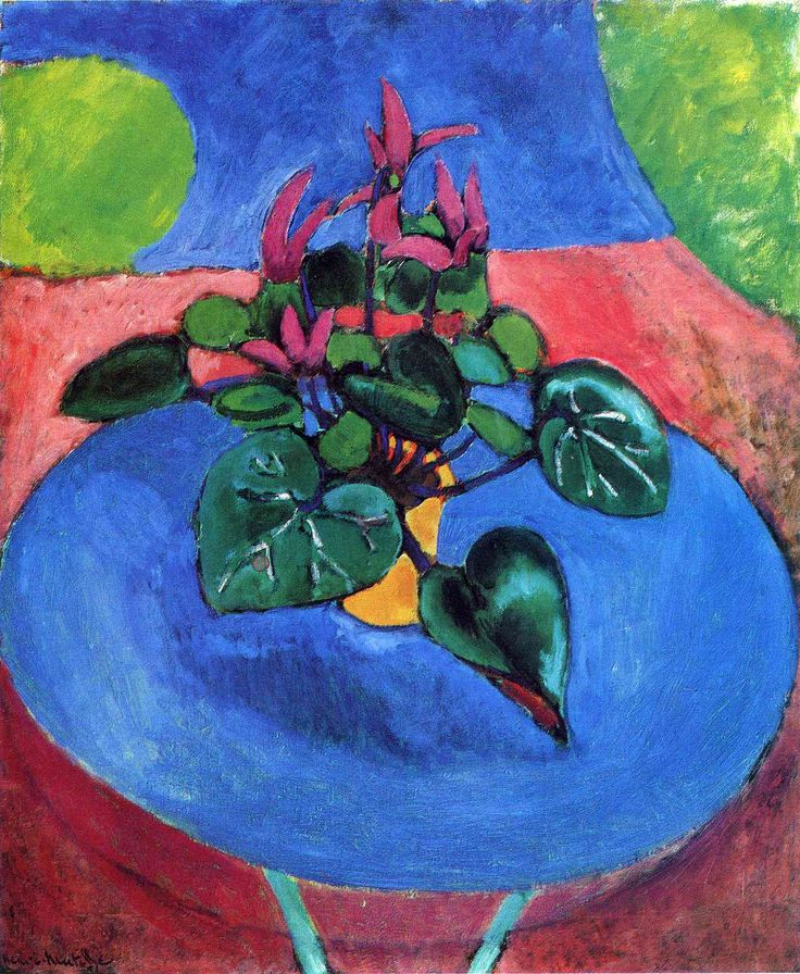 Cyclamen Pourpre by Henri Matisse—I love the colors in this one. I hadn't seen it before.