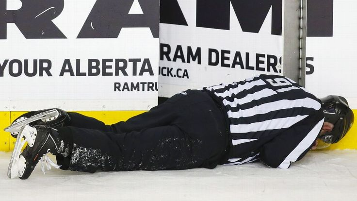 NHL linesman Don Henderson, since being hit by Calgary defenseman Dennis Wideman, has yet to return from work