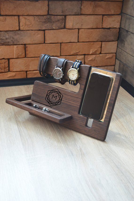 Gifts For Men Mens Christmas gifts Gifts for Him Gifts for Dad Personalized Mens Mens Wood Organizer Gift ideas for men Husband Gifts