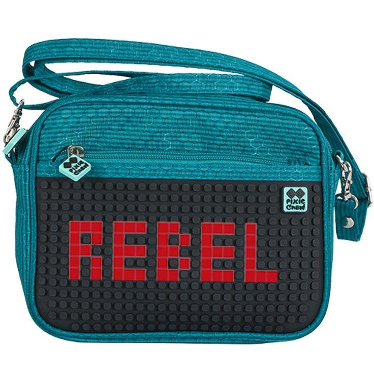 PIXIE CREW Handbag PETROL/BLACK - No pattern - Shoulder Bags  | Pixie Crew