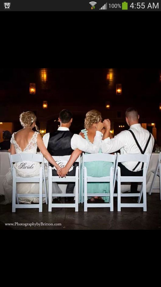 Best man, maid of honor, bride & groom. I want this pic of Ash Mark and us!!!