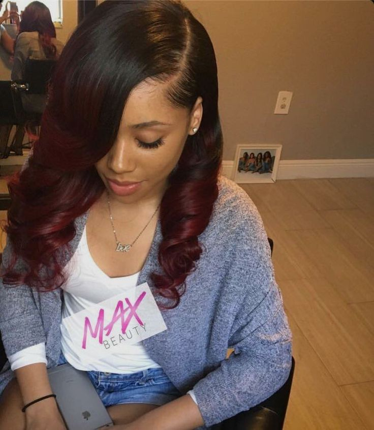 straight side part red to see more follow kiki slim red straight hair ...
