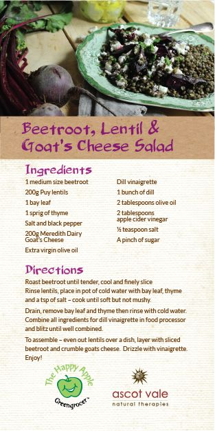 A perfect and wholesome salad that goes very well with organic lamb or chicken.