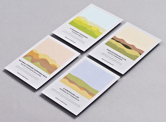 Creative Review - Studio Output's soundwave concert postcards