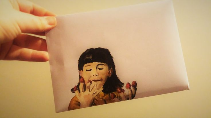 Amelie Poulain envelope by Inow. http://ineffable-inow.blogspot.be