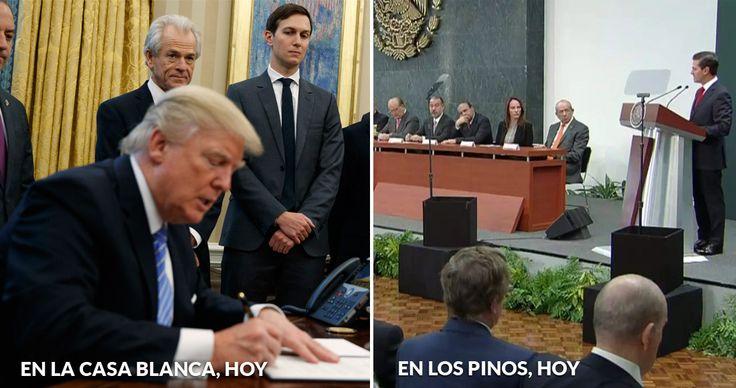 Día movido. Es el primero de Trump sentado en su escritorio de la Casa Blanca y ya movió fichas: se sale del TPP y anuncia que grabará los productos que crucen la frontera. Mientras, desde Los Pinos, Peña Nieto anunció que México defenderá el acuerdo con América del Norte pero volteará hacia Brasil,