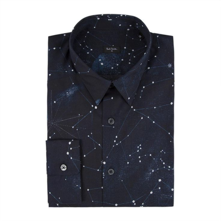 mtb (banana backpack episode) suggested by CasualNonsense - Paul Smith Mens Shirts | Navy Cosmos Print Shirt