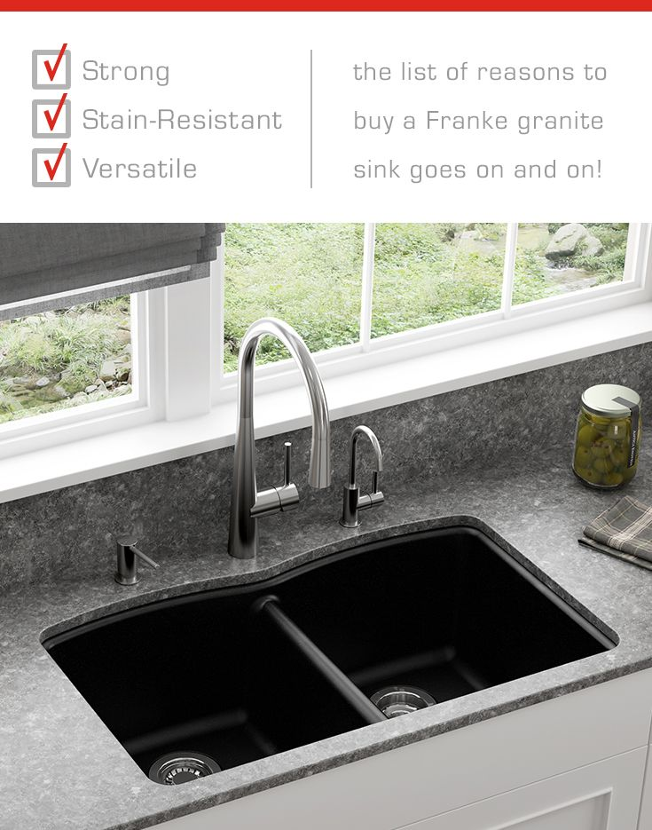 Franke Granite : ... ... the list of reasons to buy a Franke granite sink goes on and on