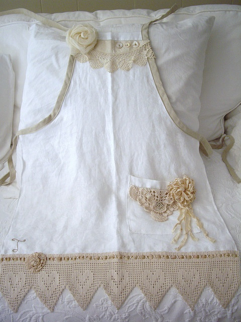 apron from vintage scraps