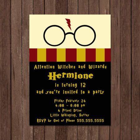 harry potter invitations - Google Search