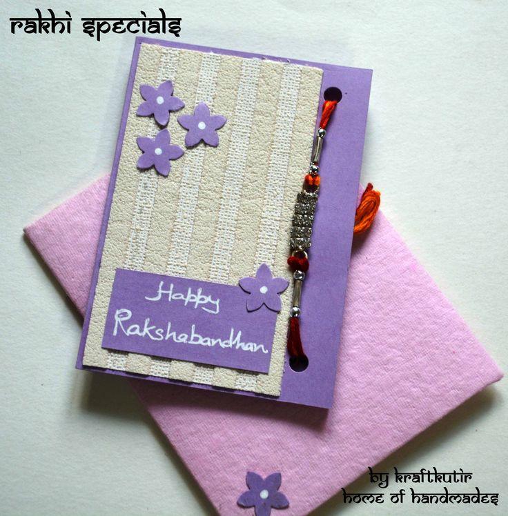 Marvelous Card Making Competition Ideas Part - 12: Rakshabandhan Cards With Rakhi :)