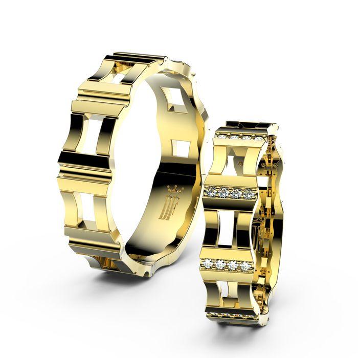Danfil Diamonds wedding rings in yellow gold with diamonds. www.danfil.cz/snubni-prsteny.