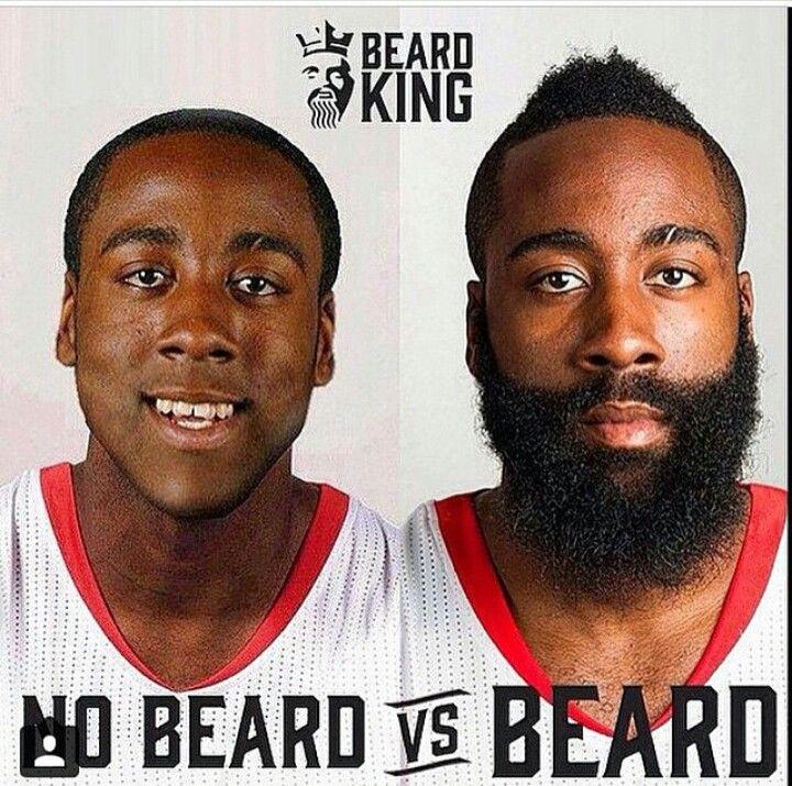 jamea harden beard vs no beard beards and grooming pinterest no beard and beards. Black Bedroom Furniture Sets. Home Design Ideas