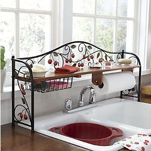 Scroll Cherry Over-The-Sink Shelf Great for Small Kitchen Country Door