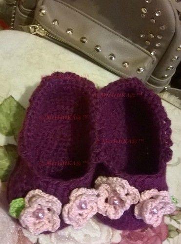 Домашние туфельки для малышей ☆ вязание крючком. Обсуждение на LiveInternet - Российский Сервис Онлайн-Дневников