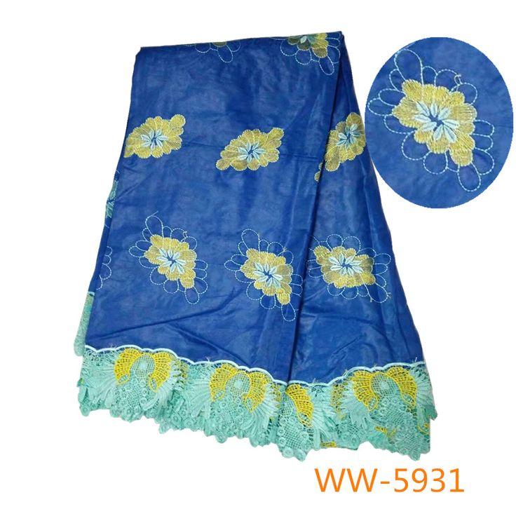 Wholesale 2017 latest best quality African Embroideredfabric bazin riche getzner fabric for Nigerian Wedding dresses blue #WeddingDressesLace