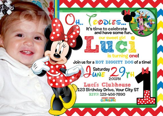 17 Best images about Mickey Mouse Clubhouse Birthday – Mickey Mouse Clubhouse Birthday Invites