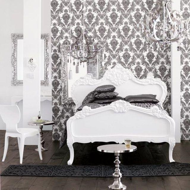 déco baroque damask bedroom bedroom decor bedroom ideas baroque ...