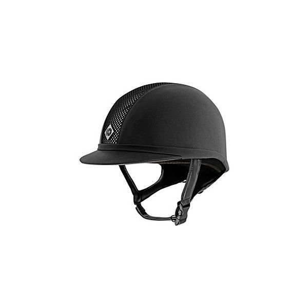 Charles Owen AYR8 Leather Look Helmet (56 NZD) ❤ liked on Polyvore featuring helmets, accessories, riding, riding helmets and fun