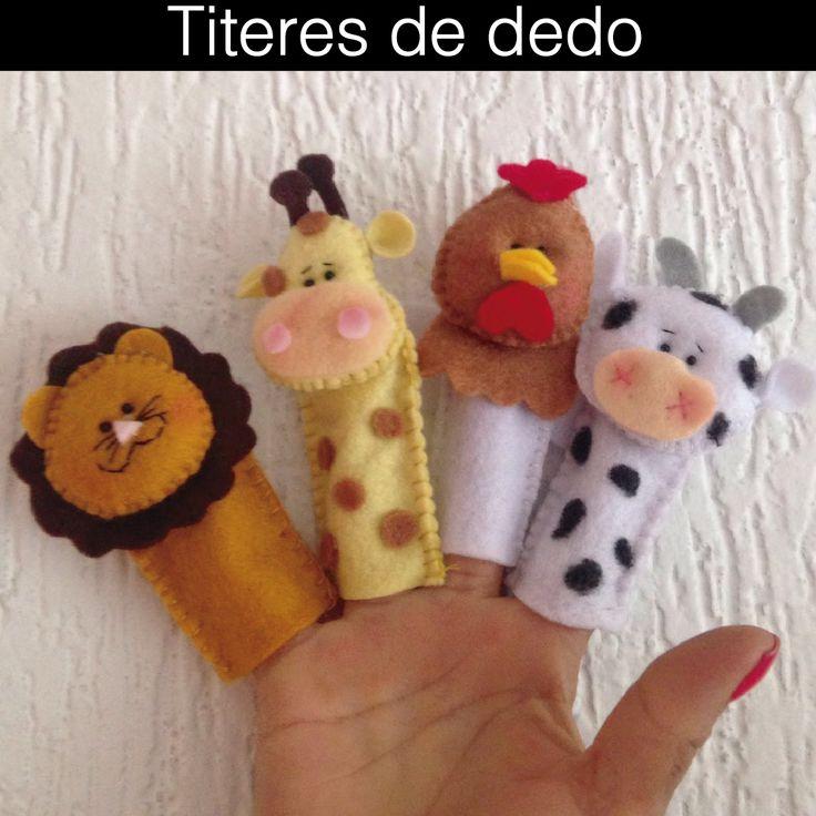 #titeres de dedo hecho a mano con detalles.  * ideales para educar, jugar y estimular a los hijos. * Ideales para regalitos o sorpresas.  #titeres #dedo #cumpleaños #regalo #babyshower #fiesta #sorpresas