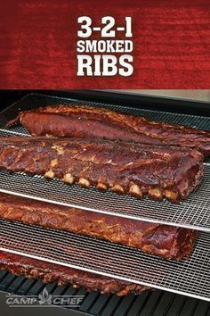 Smoking ribs is as easy as 3-2-1 with our method. With this recipe, you'll be the hit of the neighborhood. Sharing your secret (and the ribs) is optional. http://www.campchef.com/recipes/3-2-1-ribs/