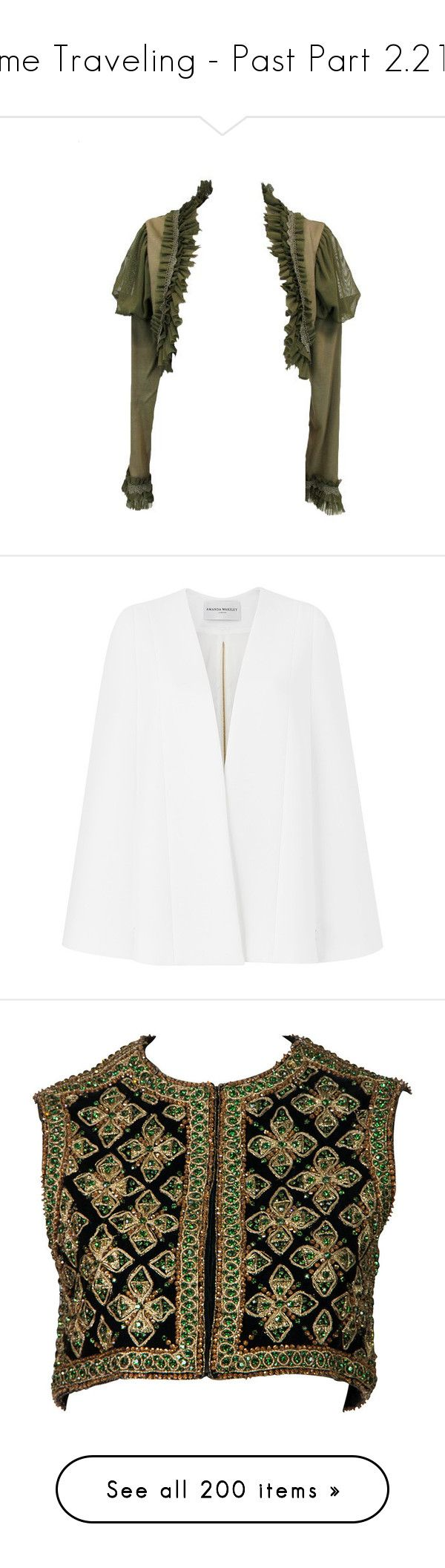 """""""Time Traveling - Past Part 2.212"""" by my-shiny-shackles on Polyvore featuring past, coats, outerwear, jackets, white, capes, white cape, white cape coat, amanda wakeley and cape coats"""